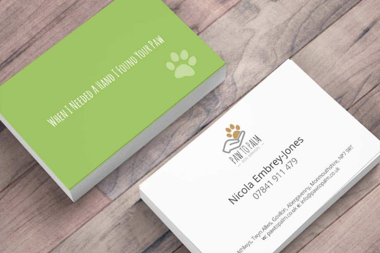 Paw to Palm Business Cards